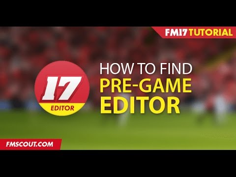 How to Find the Editor - Football Manager 2017