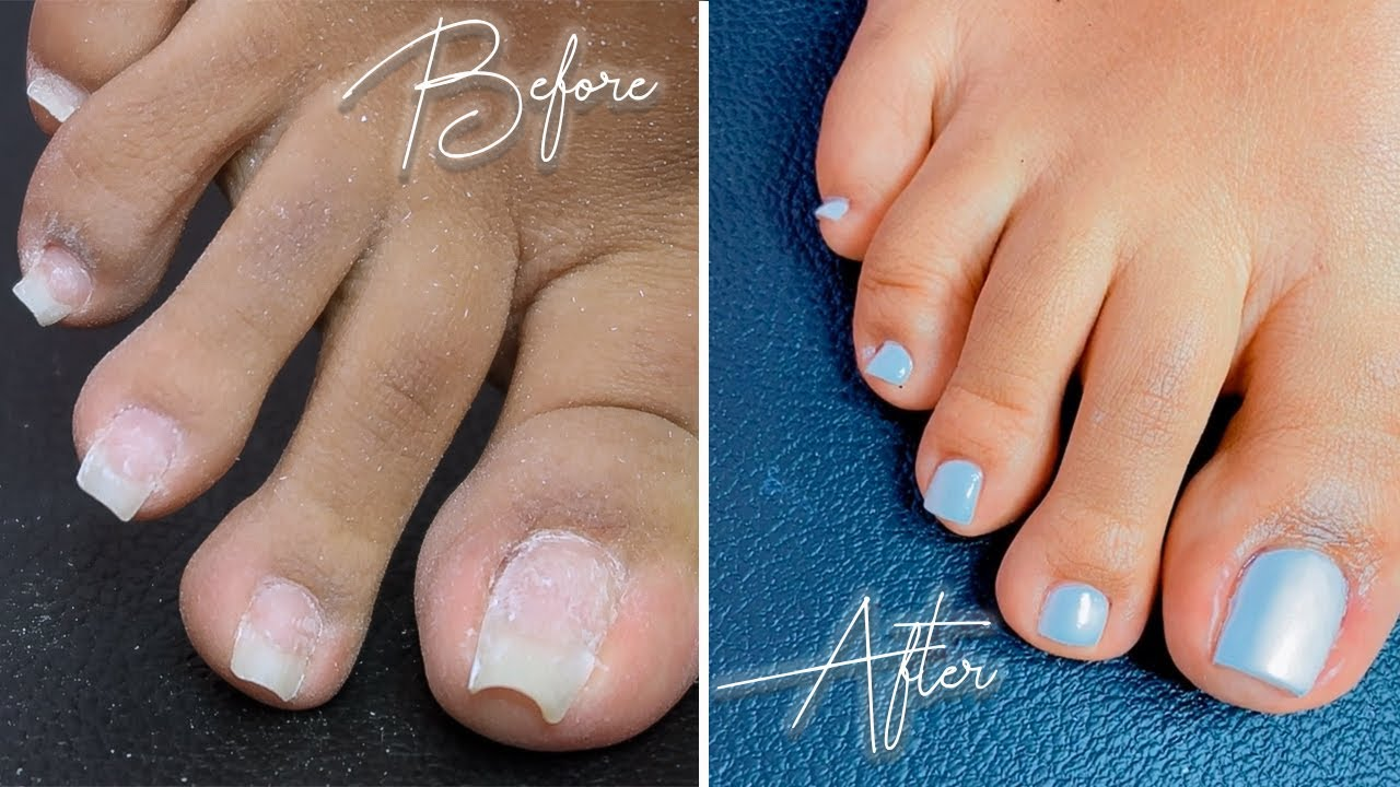DIY POLY GEL PEDICURE AT HOME | SALON STYLE IN QUARANTINE