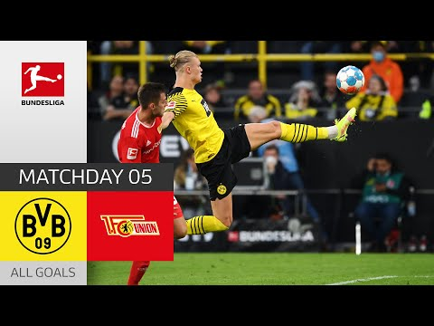 Haaland strikes again!   BVB - Union Berlin 4-2   All Goals   Matchday 5 – Bunde
