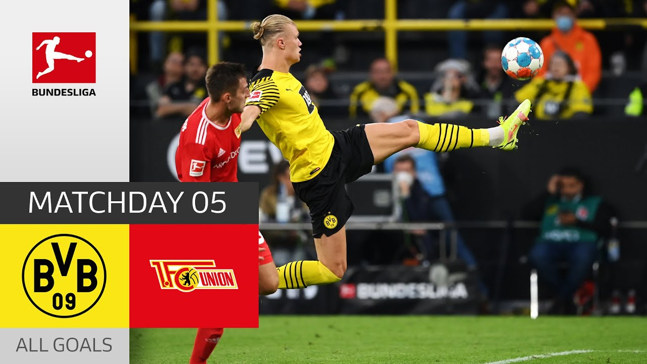 Download Haaland strikes again! | BVB - Union Berlin 4-2 | All Goals | Matchday 5 – Bundesliga 2021/22
