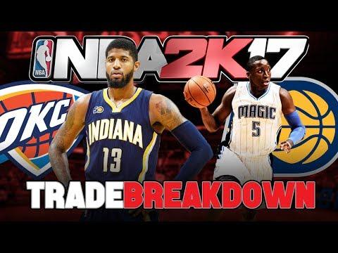 PAUL GEORGE TRADED TO OKC! (Trade Breakdown + NBA 2K17 Trade Test)
