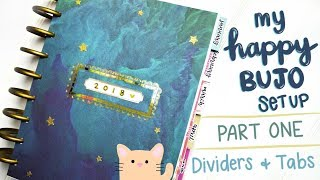 Bullet Journal Setup | Happy Planner Recycle | Part 1 - DIY Dividers and Tabs