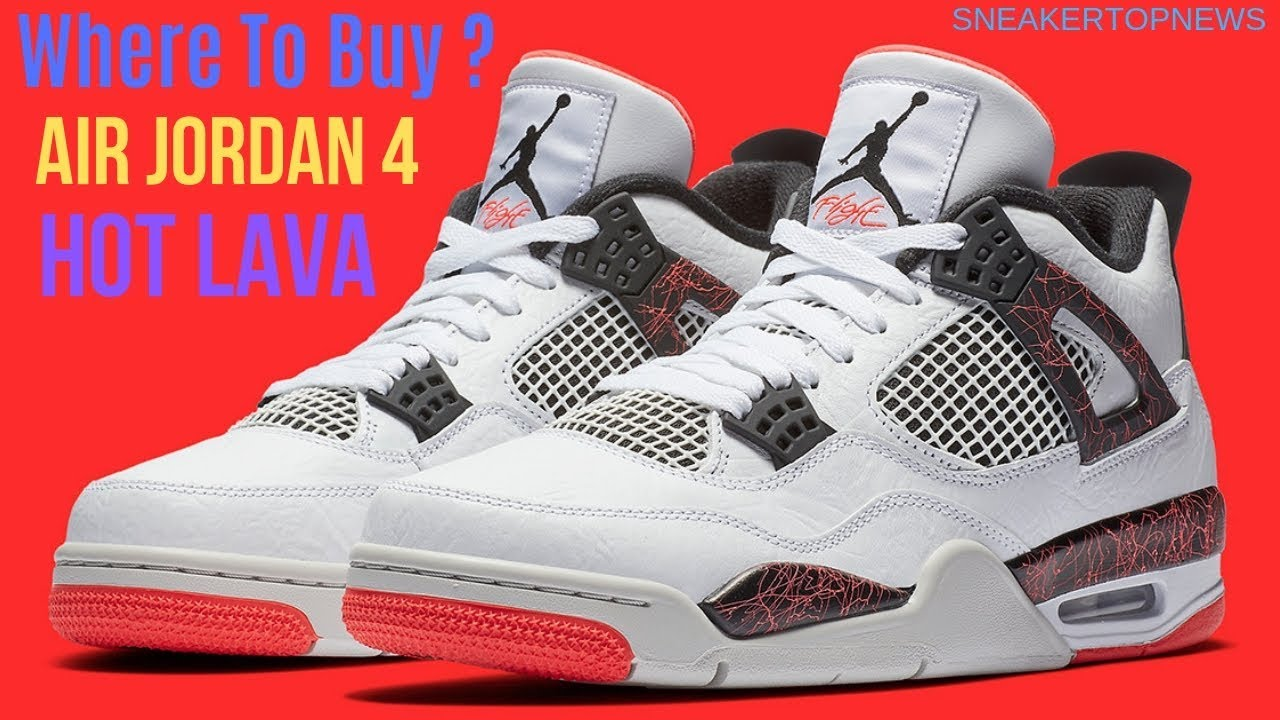 "The Air Jordan 4 ""Hot Lava"" Release"