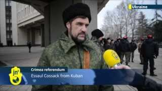 Crimea Referendum: Ukrainians and Tatars protest