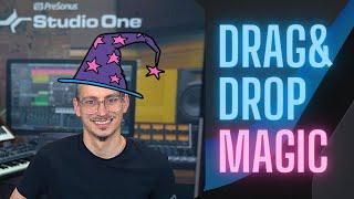 Drag & Drop Wizardry in #StudioOne - Part 1