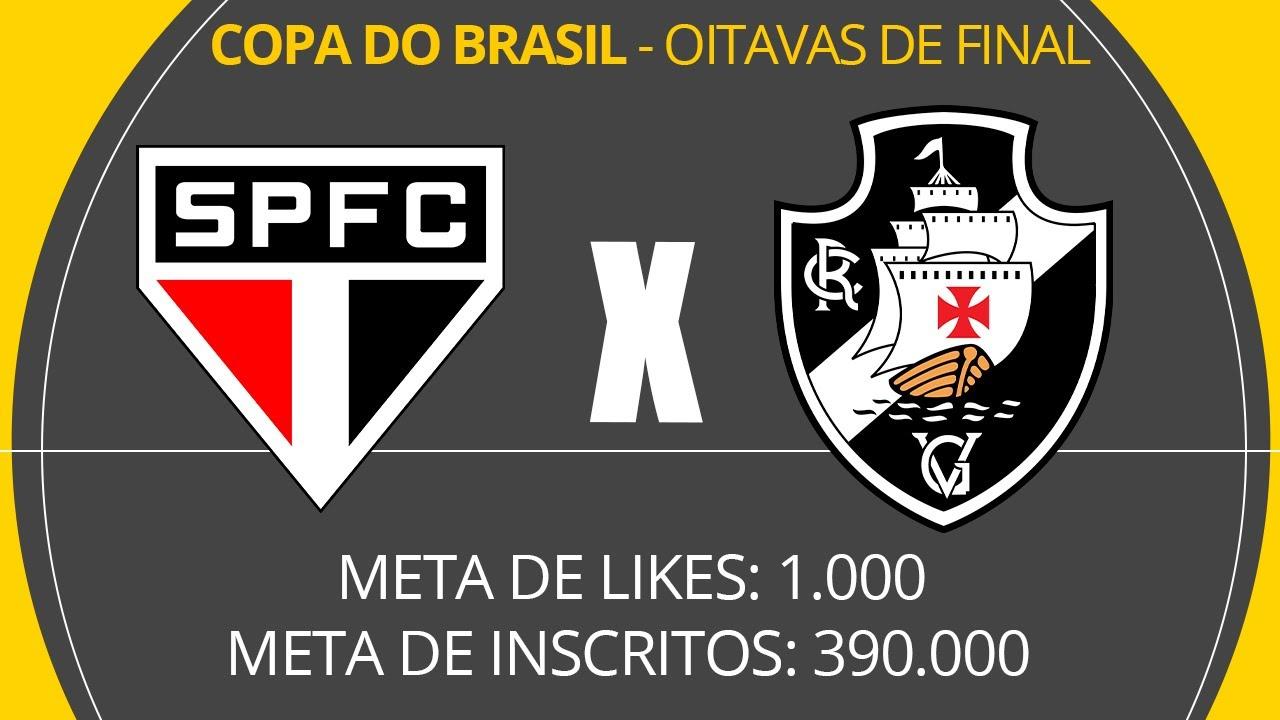 SÃO PAULO X VASCO - AO VIVO COM LUIZ PENIDO - COPA DO BRASIL - OITAVAS DE FINAL
