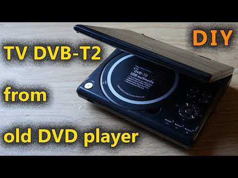 DVB-T2 телевизор из старого DVD плеера своими руками. DIY TV DVB-T2 from old DVD player