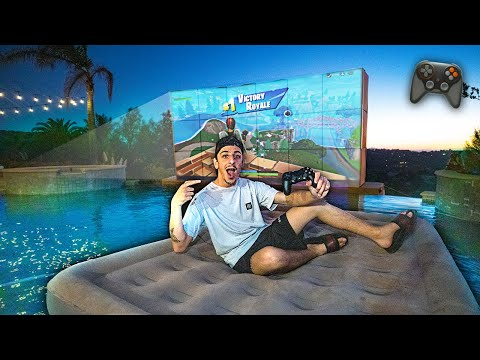 The ULTIMATE Swimming Pool Gaming Setup!! (HOMEMADE DIY)