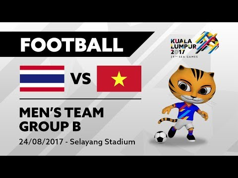 KL2017 29th SEA Games | Men's Football - THA 🇹🇭  vs VIE 🇻🇳 | 24/08/2017