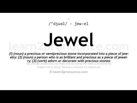 Jewel pronunciation and definition