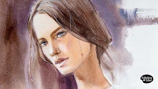 Рисуем акварелью: Портрет — kalachevaschool.ru
