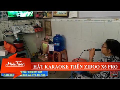 [Hieuhien.vn] Khách hàng trải nghiệm hát Karaoke trên Android TV Box Zidoo X6 PRO