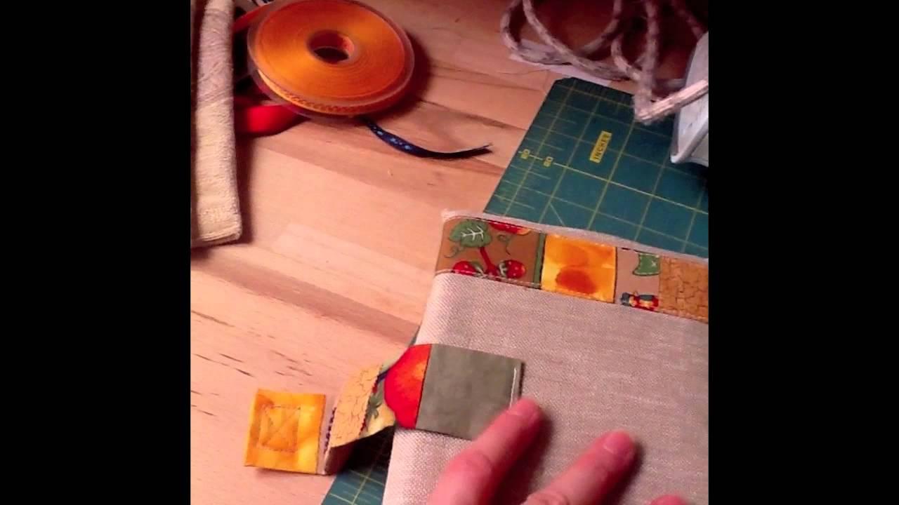 Tutorial copertina per libri in stoffa youtube for Come costruire un aggiunta coperta