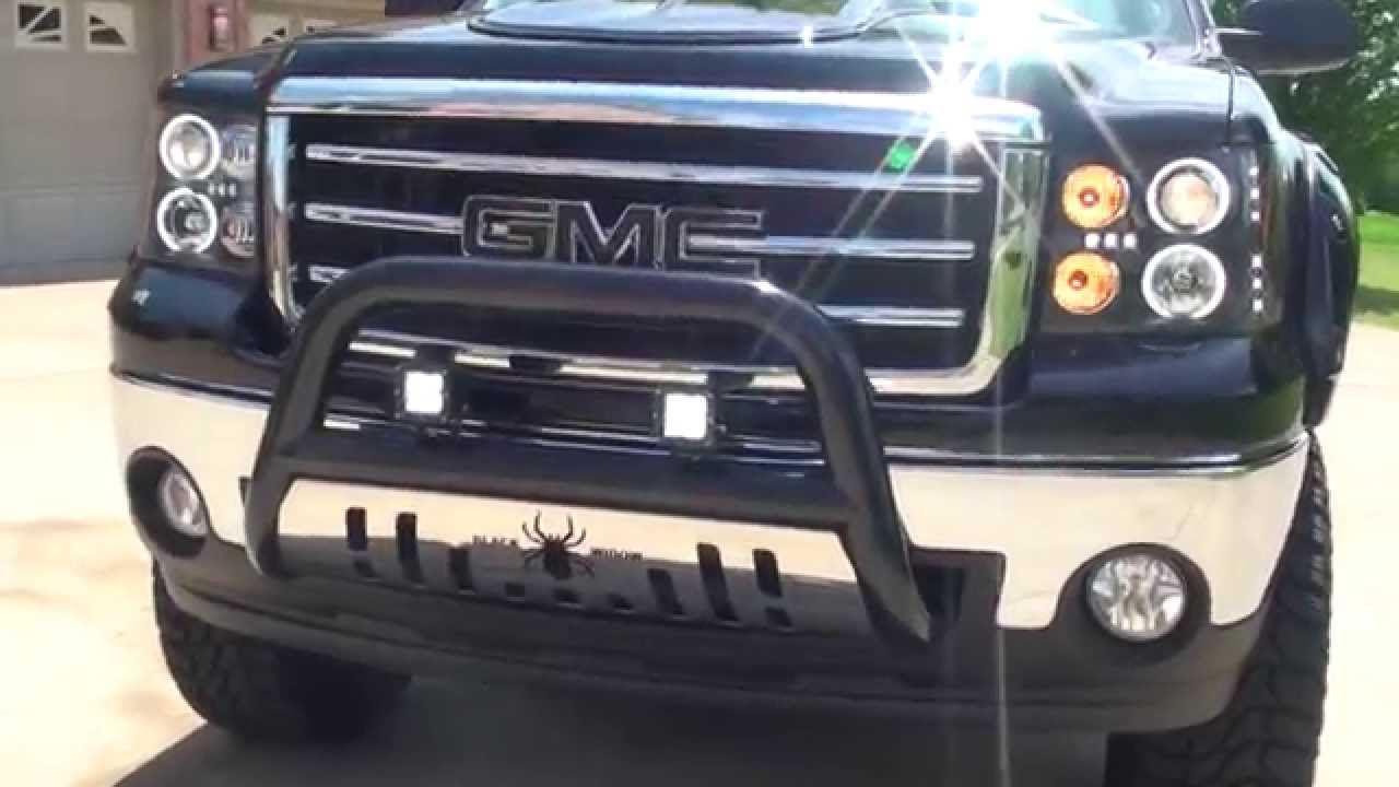 HD VIDEO 13 GMC SIERRA BLACK WIDOW EDITION 4X4 CREW CAB ...