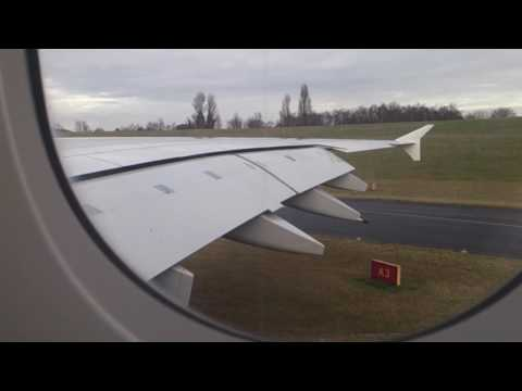 Emirates A380 Pushback, Taxi and Takeoff from Birmingham Airport