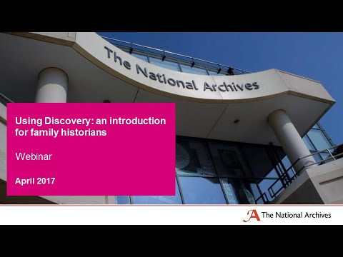 Using Discovery: an introduction for family historians