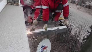Вынос балкона по полу Москва. Панорамное остекление балкона окна Калева ПВХ(, 2015-11-07T20:49:45.000Z)