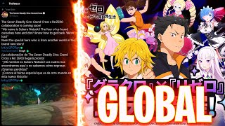 🔥¡CONFIRMADA COLLAB de RE ZERO para la GLOBAL!🔥 *TODA LA INFO* Seven Deadly Sins: Grand Cross