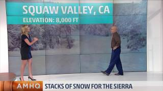Snow Stacks up in the Sierra