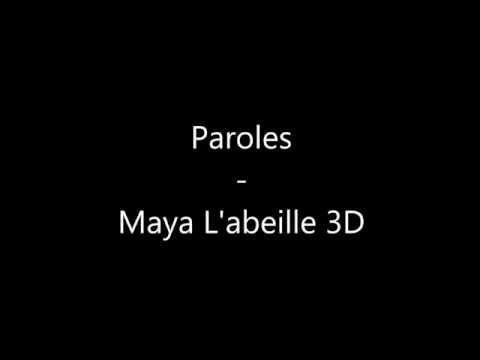 Maya L Abeille Paroles Youtube