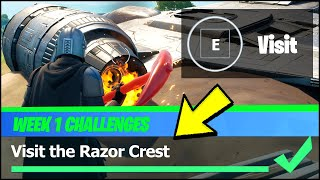 Visit the Razor Crest Location - Fortnite Season 5 Week 1 Challenges