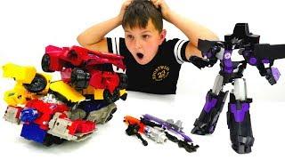 Трансформеры  и шпион на базе автоботов - Игры для мальчиков про роботов