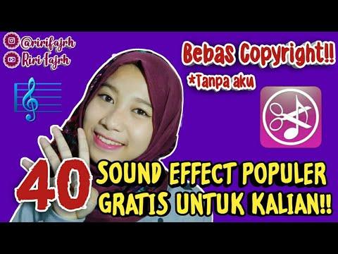 40 SOUND EFFECT POPULER GRATIS UNTUK KALIAN!! #BagiBagiRi #soundeffectgratis || Riri Fajrh