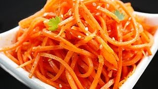 Морковь по-корейски (морковь-ча) - Наталья Ким(Из этого видео Вы узнаете, как готовить морковь по-корейски (Марковь-ча)! Пропорции http://za100le.ru/salad/carrots-are-koreys.html., 2012-08-22T17:57:52.000Z)