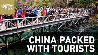 Holiday tourism booms across China during Golden Week