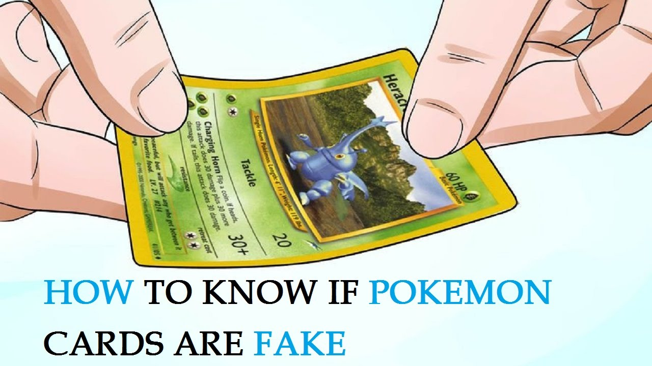 How To Know If Pokemon Cards Are Fake Youtube