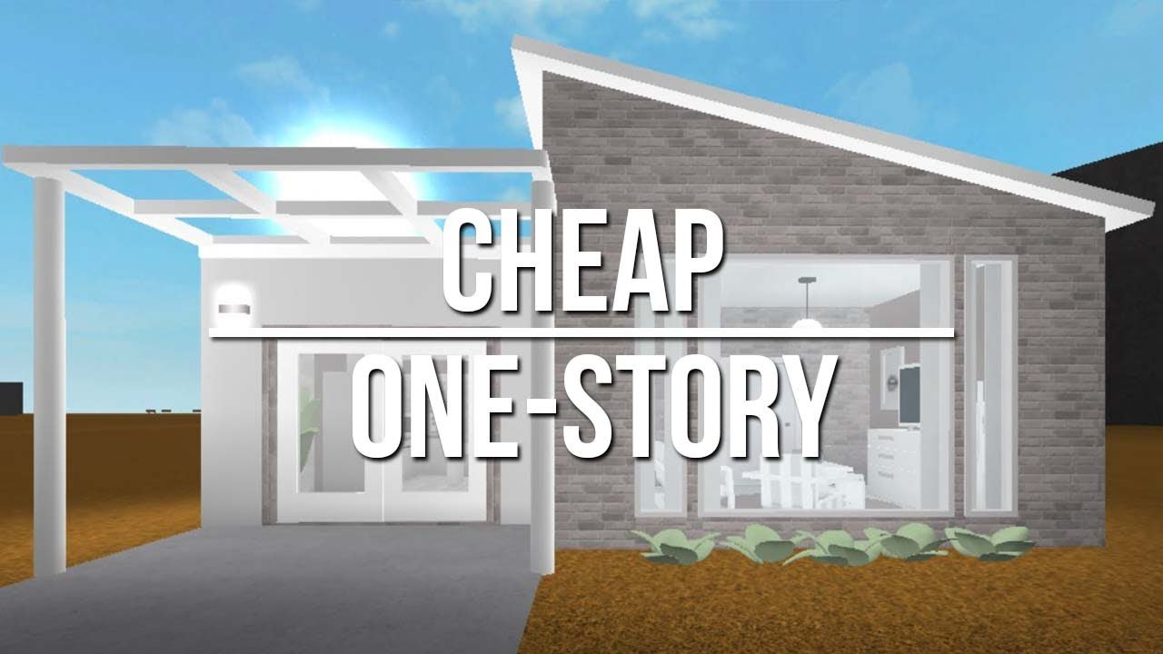 Roblox welcome to bloxburg cheap one story 18k youtube for Cheapest 2 story house to build