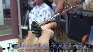 Short Scissor Haircut | Radial | 90 Degree | How to video