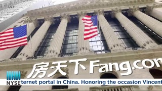 Fang Holdings is a real estate Internet portal in China celebrates 8 years on the NYSE