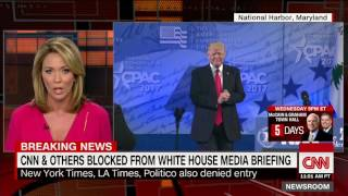 CNN and many more BLOCKED from White House Press Meeting while BREITBART got invited