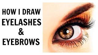 How I Draw Eyelashes and Eyebrows | ARTISTX