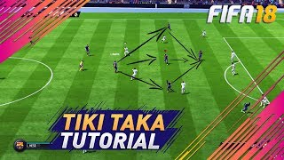 Fifa 18 after patch attacking tutorial (tiki taka) - how to attack & use the build-up play to score