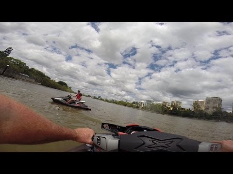 Jetskiing Brisbane River               (Best viewed in High Def)