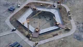 "Строительство ""Лахта Центра"". Котлован под фундамент небоскреба"