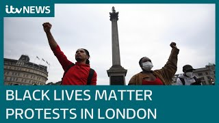 Thousands in London take part in George Floyd protests | ITV News