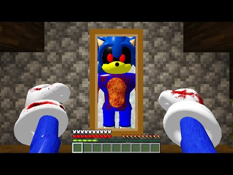 I Became SONIC.EXE for 24 Hours in Minecraft!