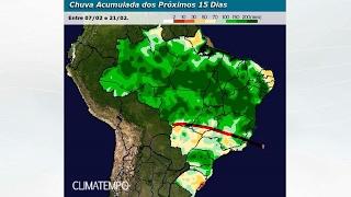 Chuva no BR para 15 dias (até 21/2/17