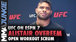 UFC on ESPN 7: Alistair Overeem open workout scrum