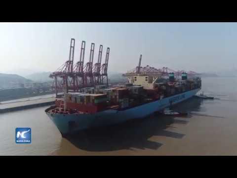 El puerto de Ningbo Zhoushan, China, con récord mundial de rendimiento
