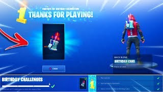 what happens when you UNLOCK BIRTHDAY CAKE BACKBLING! Fortnite NEW Birthday Cake Backbling Gameplay!