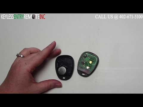 How To Replace A 2003 – 2007 Cadillac CTS Key Fob Battery FCC ID L2C0005T
