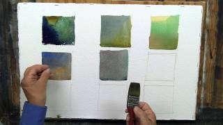 Watercolor Mixing - Creating Green, Gray, and Violet
