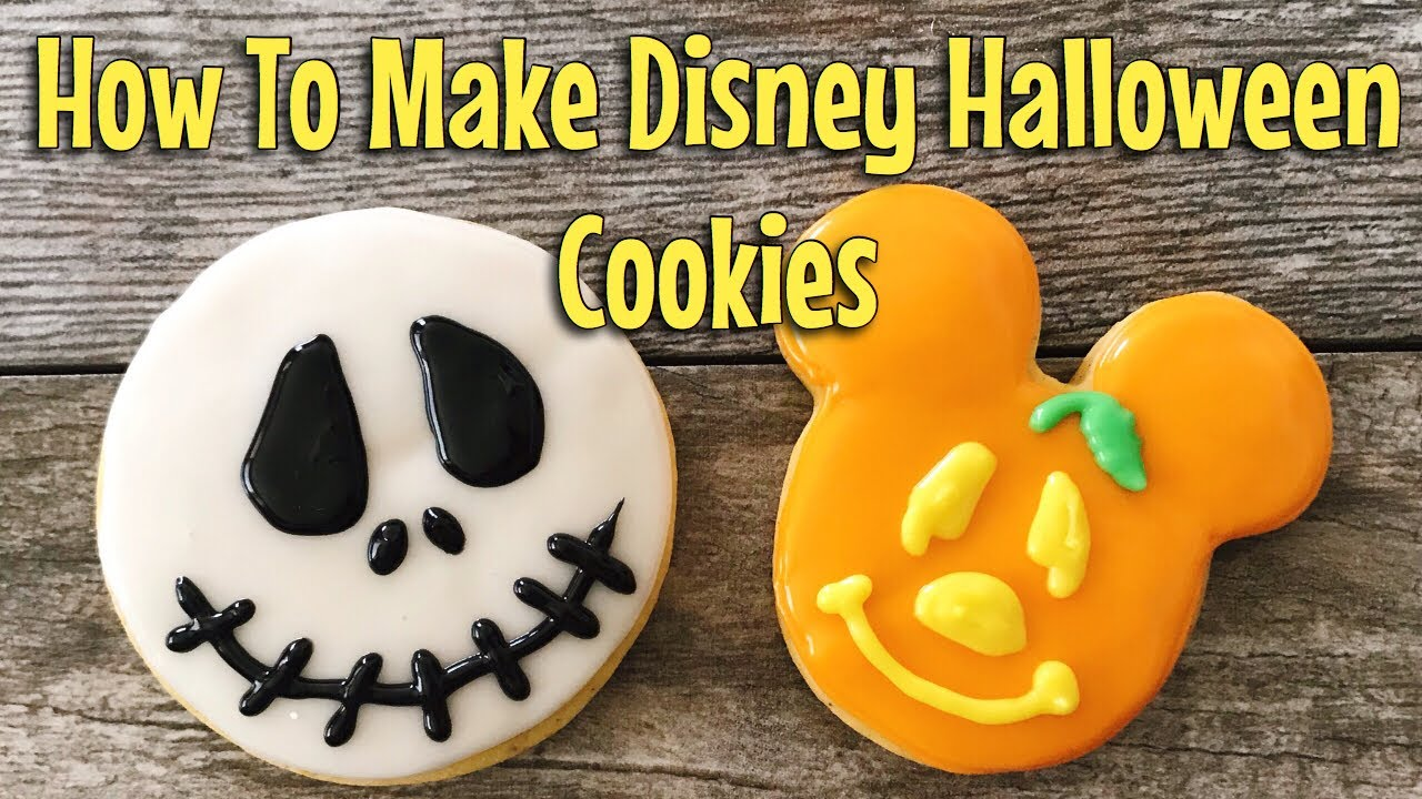 How Do You Make Halloween Cookies.How To Make Mickey Mouse Halloween Cookies Youtube