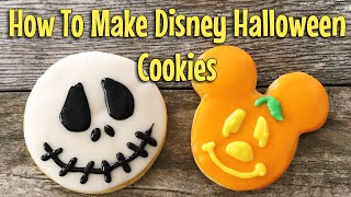 How to Make Mickey Mouse Halloween Cookies