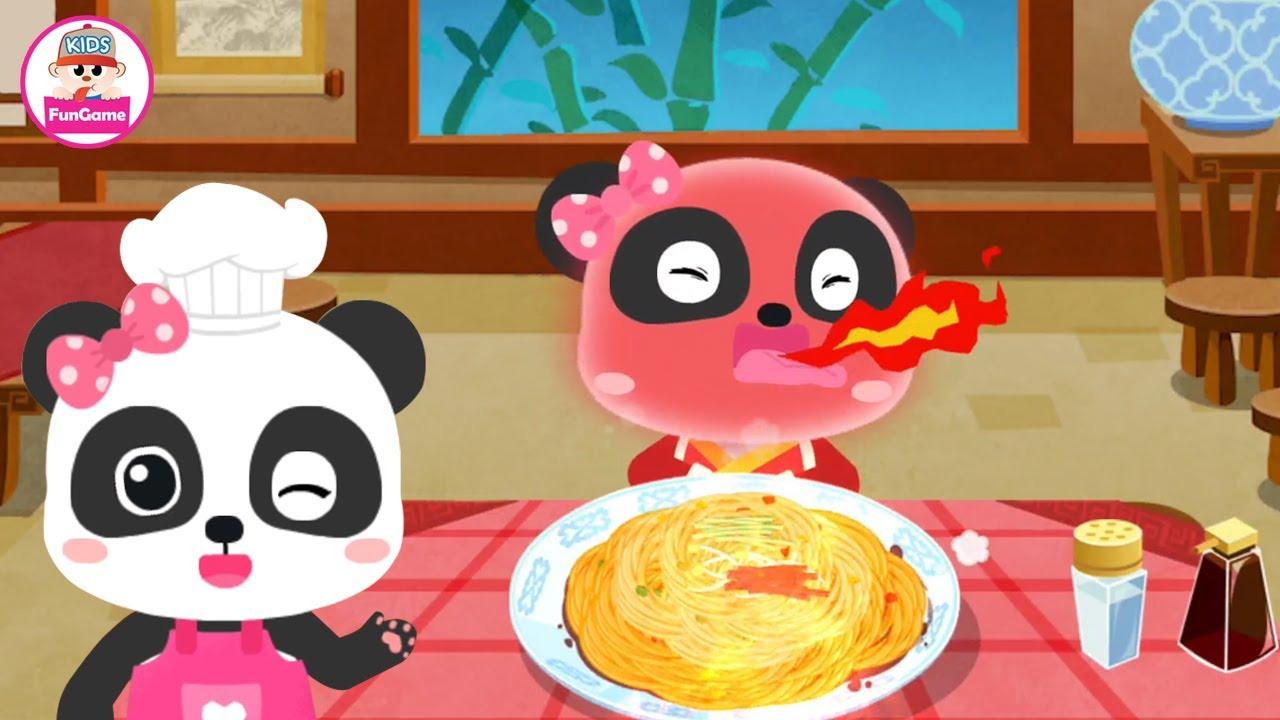 Gấu Trúc Kiki và Miumiu - Thử Thách Ăn Món Mì Siêu Cay