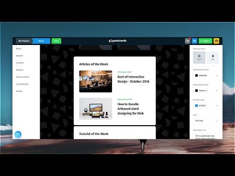 Postcards - RESPONSIVE Email Templates Builder [Full Overview]